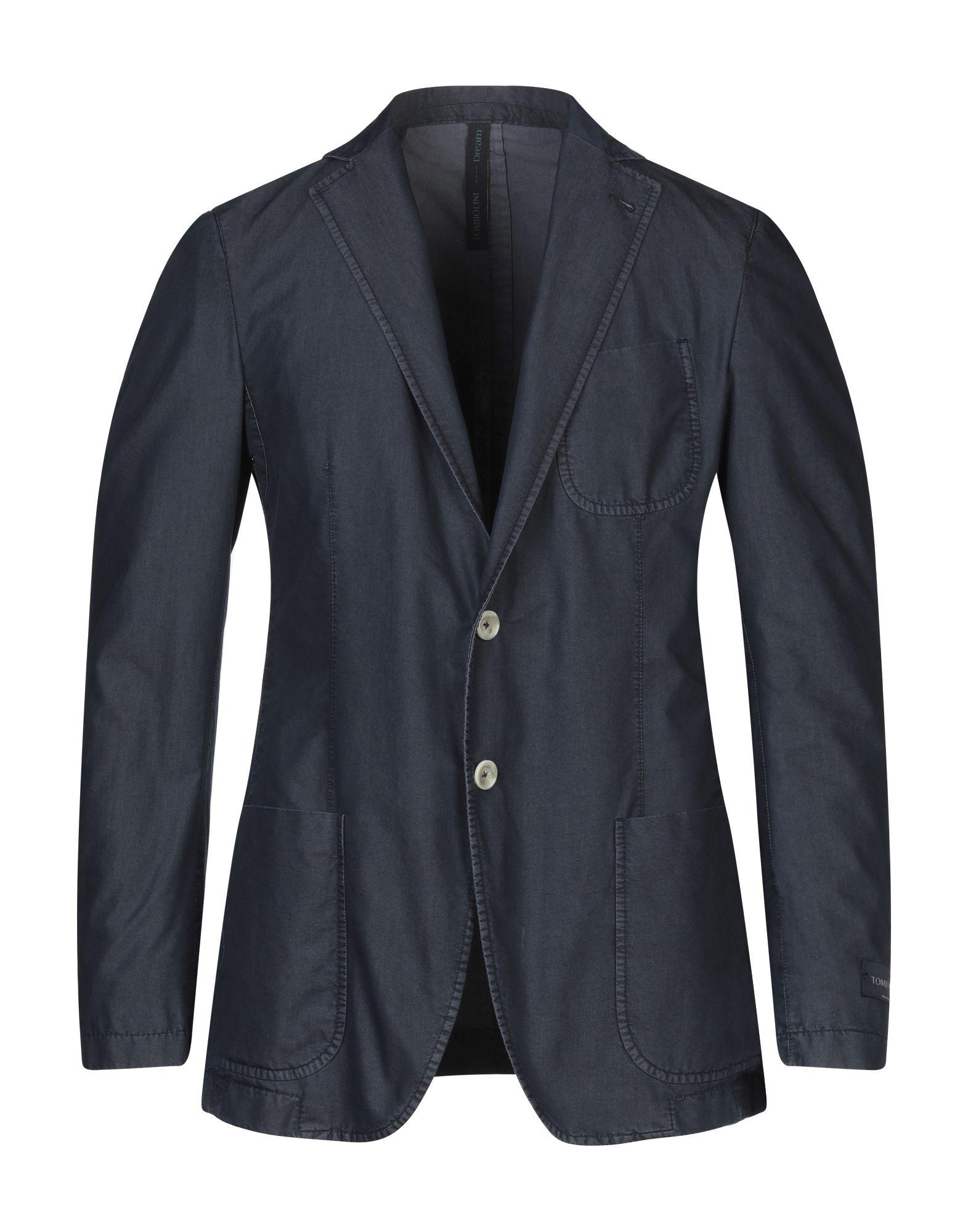 《セール開催中》TOMBOLINI DREAM メンズ テーラードジャケット ブルーグレー 50 コットン 56% / ポリエステル 44%