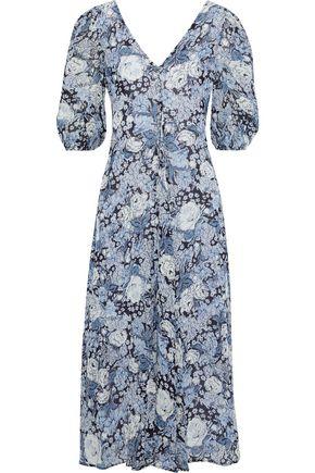 GANNI Elm floral-print georgette midi dress