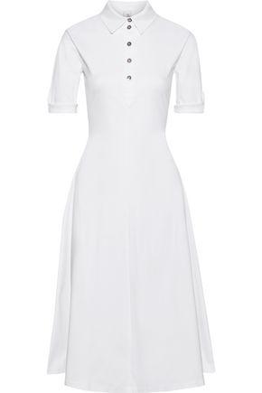 """IRIS & INK فستان واسع ومتوسط الطول على شكل قميص """"بلوميريا"""" من الجيرسي القطني"""