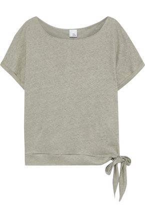 IRIS & INK Acacia knotted slub linen-jersey T-shirt