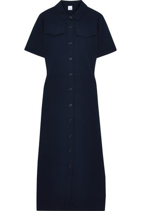 IRIS & INK Geranium stretch-jersey midi shirt dress
