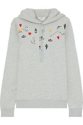 GANNI Trenton Isoli embellished cotton-fleece hoodie