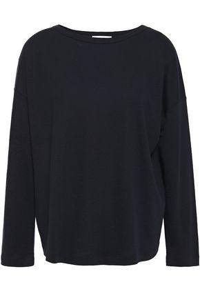 VINCE. Slub Tencel, linen and cotton-blend jersey top