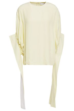 J.W.ANDERSON Gathered crepe de chine top