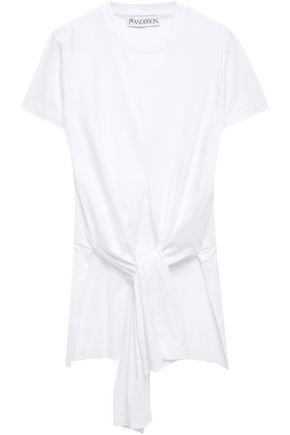 J.W.ANDERSON Tie-front cotton-jersey T-shirt
