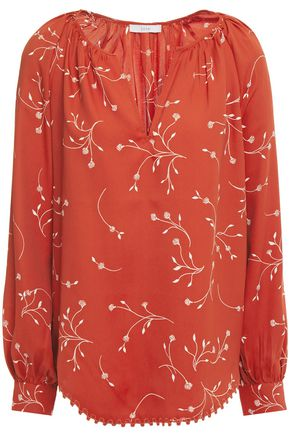 JOIE Allea printed crepe de chine blouse