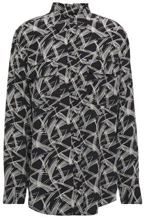 EQUIPMENT Signature printed silk crepe de chine shirt