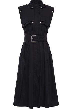 PROENZA SCHOULER Convertible belted stretch-cotton poplin dress