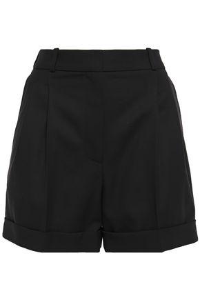 RACIL City satin-trimmed wool shorts