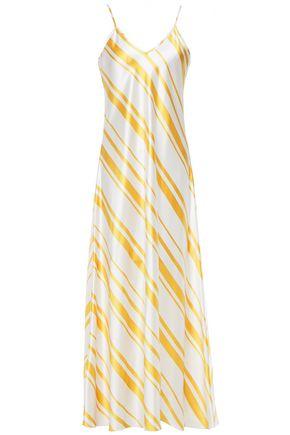 RACIL Geiko striped silk-satin maxi slip dress