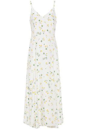 RACIL Ava floral-print silk-cady maxi dress