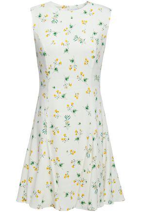 RACIL Lana floral-print stretch-cady mini dress