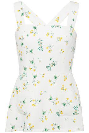 RACIL Elle floral-print silk-crepe top