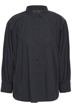 NILI LOTAN Trenton gathered cotton-poplin shirt