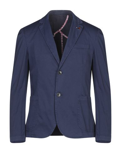 Фото - Мужской пиджак INDIVIDUAL темно-синего цвета