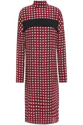 MARNI فستان من الكريب الحريري المطبع برسومات
