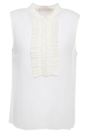 VANESSA BRUNO Laria pleated cotton-gauze blouse