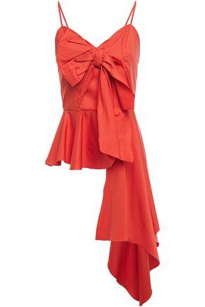 """JOHANNA ORTIZ بلوزة """"نينيت دي فالديس"""" بقصة البيبلوم من قماش البوبلين المصنوع من مزيج القطن مزينة بعقدة فراشية"""
