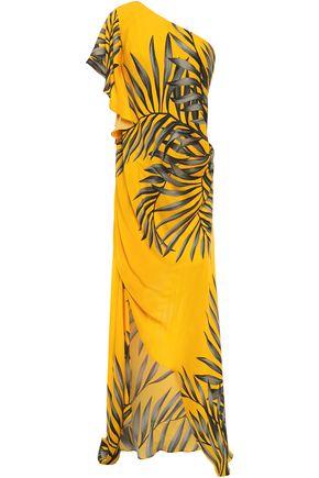 JOHANNA ORTIZ Etimologis one-shoulder draped printed silk-crepe dress