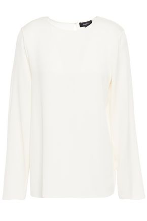THEORY Stretch-silk top