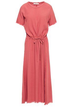 VANESSA BRUNO Frayed crepe midi dress