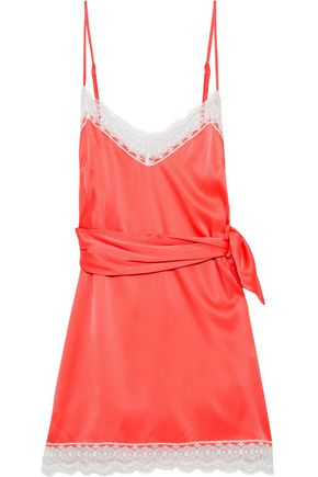 "MIGUELINA فستان قصير ""شارلوت"" من قماش شارموز الحريري"