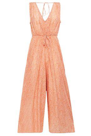 VANESSA BRUNO Levana cropped floral-print jacquard jumpsuit