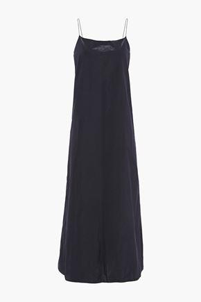 THEORY Taffeta maxi slip dress
