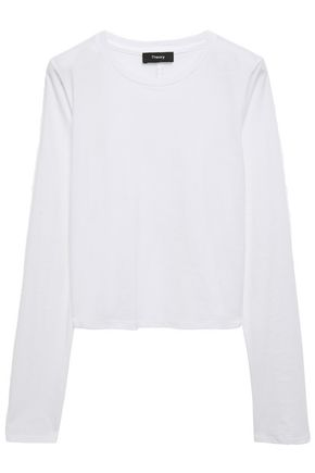 THEORY Cotton-jersey top