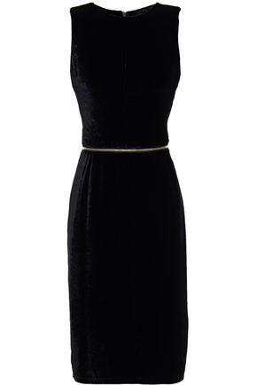 MM6 MAISON MARGIELA Zip-detailed velvet dress