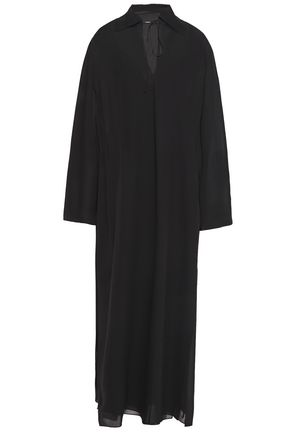 THEORY Silk-georgette maxi dress