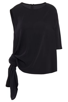 MM6 MAISON MARGIELA Asymmetric draped washed-crepe top