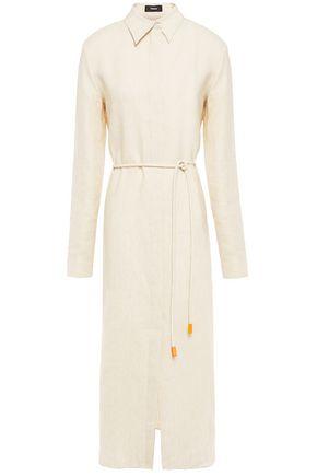 THEORY Mélange linen shirt dress
