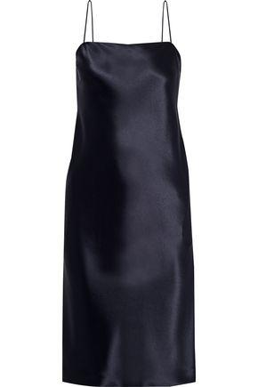DEVEAUX Coco satin-crepe slip dress
