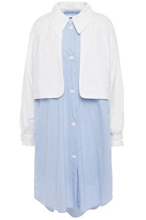 MM6 MAISON MARGIELA Layered striped cotton dress