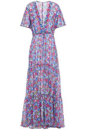 STELLA McCARTNEY Cutout floral-print cotton and silk-blend coverup