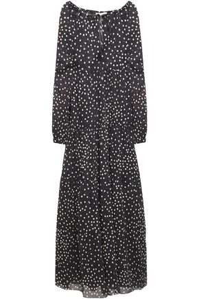 STELLA McCARTNEY Gathered polka-dot cotton-mousseline maxi dress