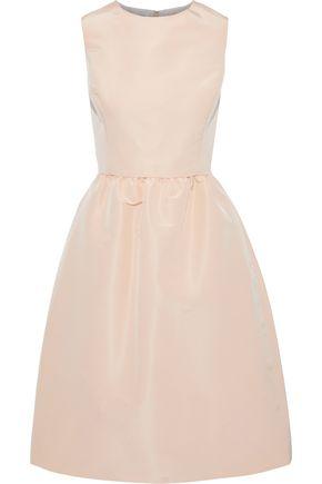 OSCAR DE LA RENTA Flared silk-faille dress