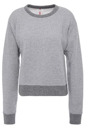 RAG & BONE Mélange cotton-blend fleece sweatshirt