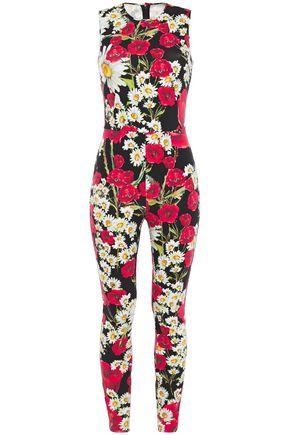 DOLCE & GABBANA Floral-print stretch-jersey jumpsuit
