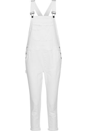 FRAME Le Garcon cropped denim overalls