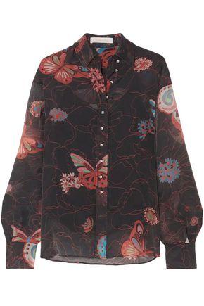 SEE BY CHLOÉ قميص من الشيفون المطبع برسومات مزين بأزرار