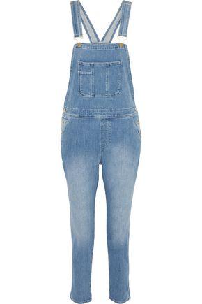 FRAME Le Garcon faded denim overalls