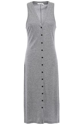 RAG & BONE فستان من الجيرسي المصنوع من مزيج المودال والقطن مضلّع