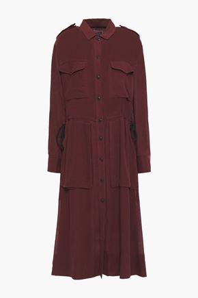 RAG & BONE Crinkled georgette shirt dress