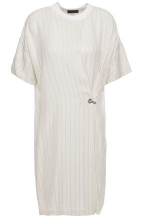 RAG & BONE Metallic pinstriped jacquard mini dress