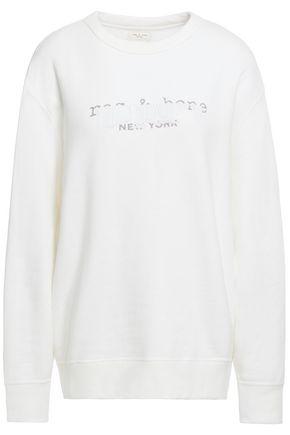 RAG & BONE Painted printed French cotton-terry sweatshirt