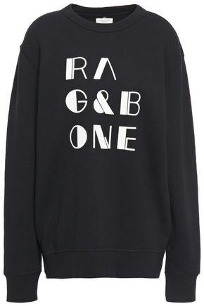 RAG & BONE Flocked French cotton-terry sweatshirt