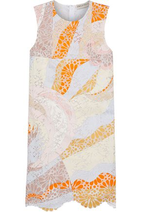 EMILIO PUCCI Scalloped printed broderie anglaise cotton mini dress
