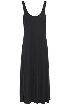 """RAG & BONE فستان متوسط الطول """"أليغرا"""" من الجيرسي مزين بأزرار"""